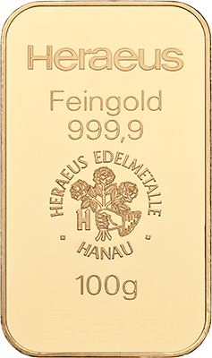 100g Gold from Heraeus at Auvesta