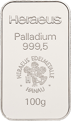 100g Palladium from Heraeus at Auvesta