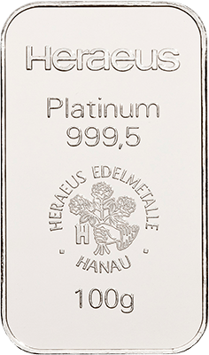 100g Platinum from Heraeus at Auvesta